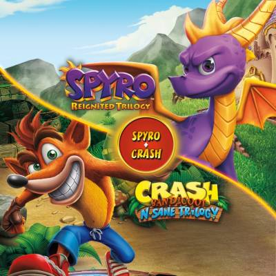 Аренда и прокат Набор Spyro + Crash Remastered для PS4